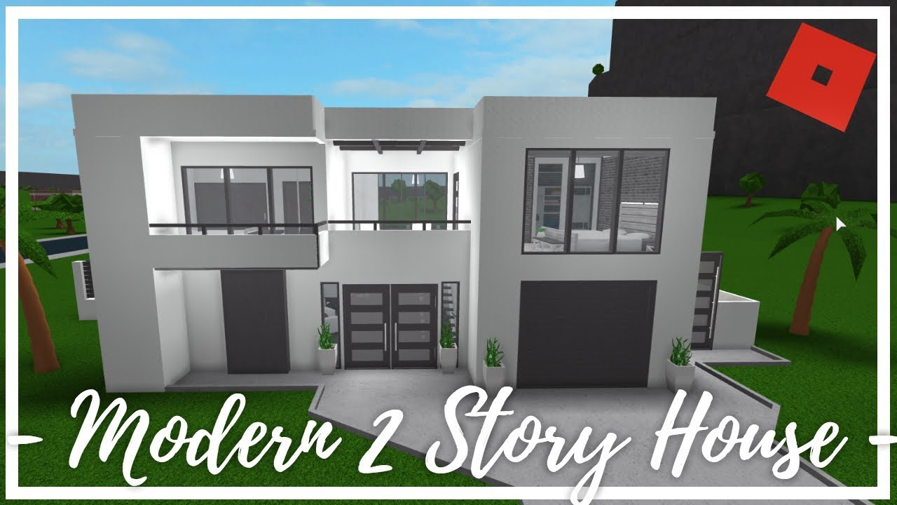 Roblox welcome to bloxburg modern 2 story house 84k