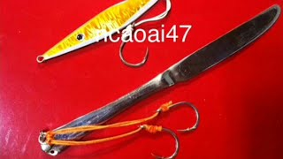 How to Make a Knife Jig Lure Sea Fishing(60 gr)DIY- Fishing Tips