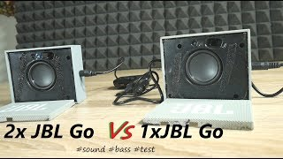 2x JBL Go vs 1xJBL Go speaker sound/bass test [no grill]