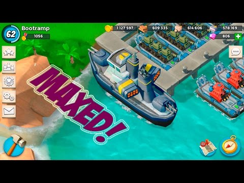 GUNBOAT MAXED TO LEVEL 21 | Boom Beach | BIG LOOT GRAB FOR UPGRADE