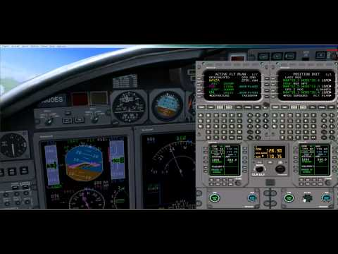 Eaglesoft Citation X setup and precision approach ILS KDEN
