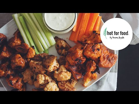 Buffalo Cauliflower Wings + 2 More Flavors! // Cauliflower Wings 3 Ways (Vegan) | hot for food