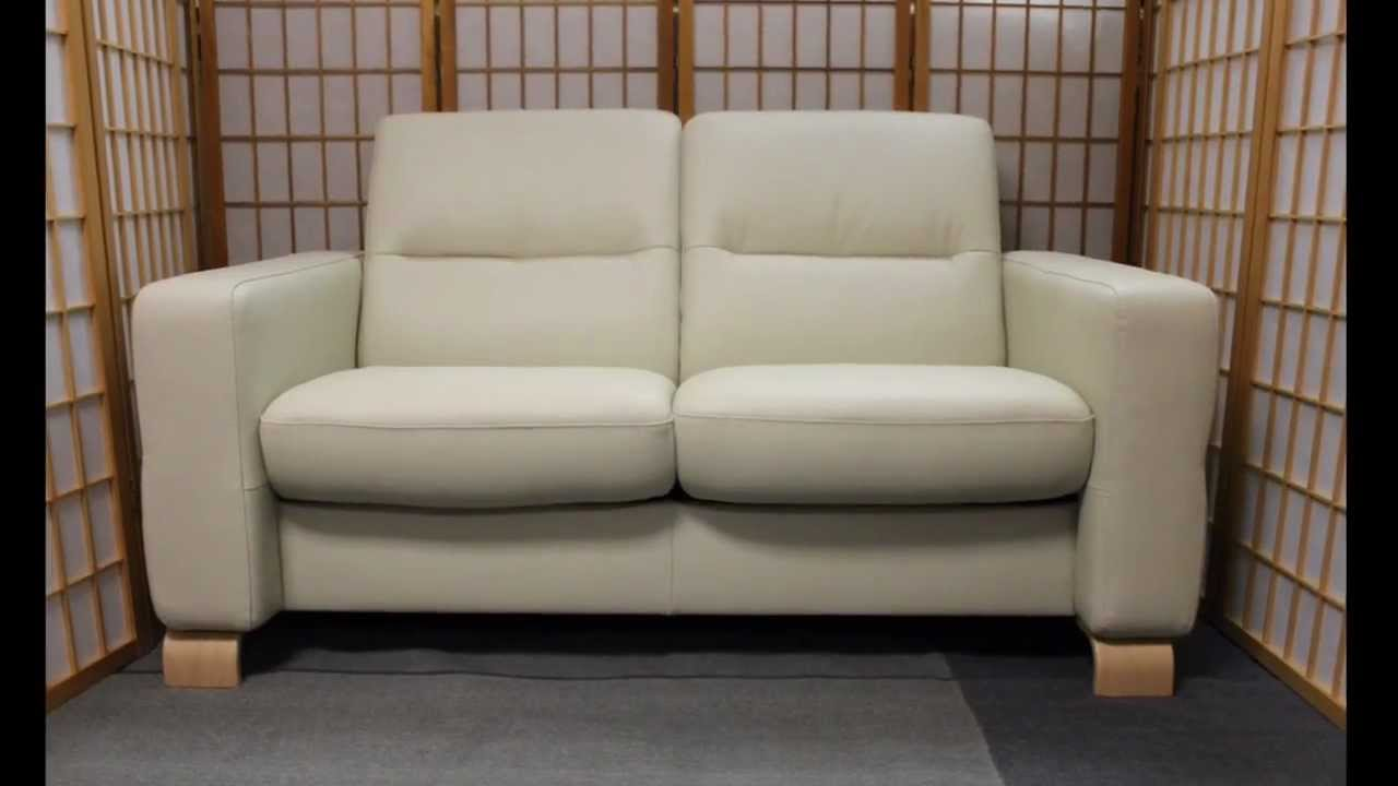 Stressless Wave Loveseat by Ekornes. Free Nationwide White ...