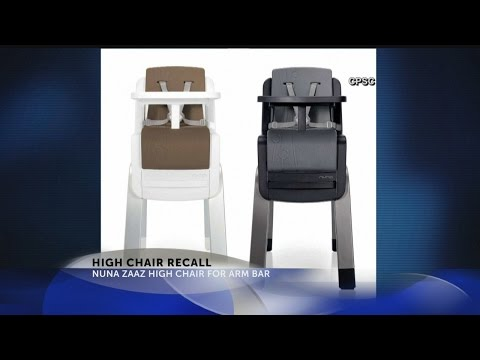 Nuna recalls high chairs due to fall hazard