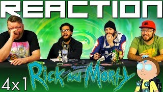 "Rick and Morty 4x1 PREMIERE REACTION!! ""Edge of Tomorty: Rick Die Rickpeat"""