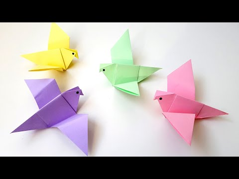Птицы из бумаги своими руками для детей
