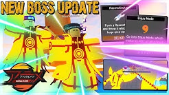 OWNER SHOWS *NEW* BOSS UPDATE! NINE TAILS BIJUU MODE ADDED! IN ANIME FIGHTING SIMULATOR ROBLOX