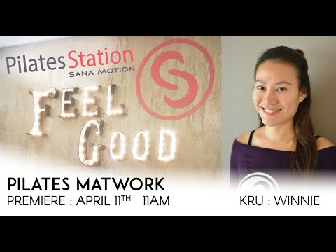 Pilates on the couch with Kru Winnie| Premiere : 11 April 2020 | 11am