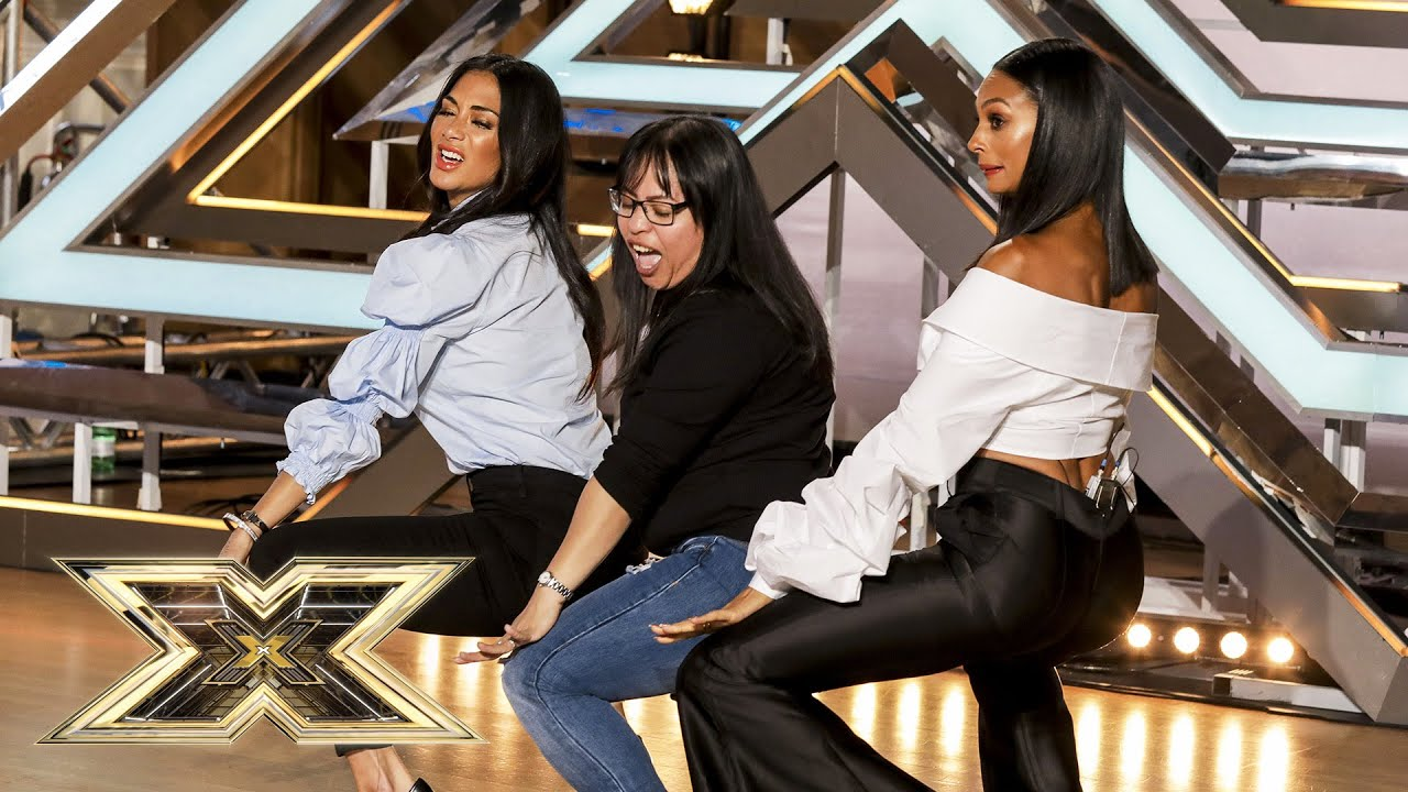 LOL! Nicole Scherzinger and Alesha Dixon join Gaga Lord as BACKING DANCERS! | The X Factor UK