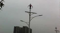 Hybrid Wind, Solar LED light, Off-Grid Green Energy Street Light