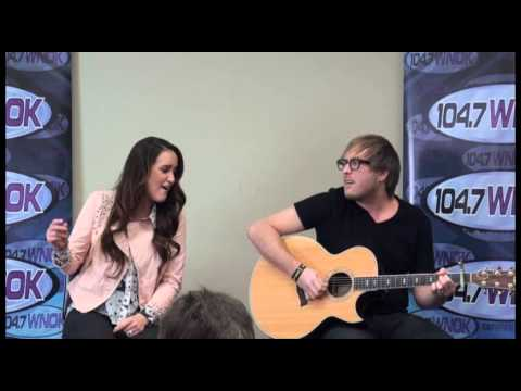 Britt Nicole performs her song Gold at WNOK in Columbia, SC