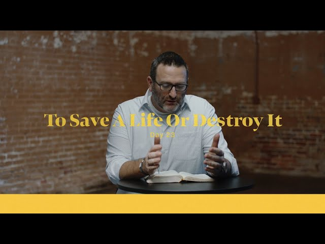 To Save A Life, Or Destroy It