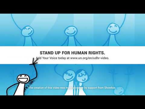 Jamie Crique, United States, reading article 6 of the Universal Declaration of Human Rights