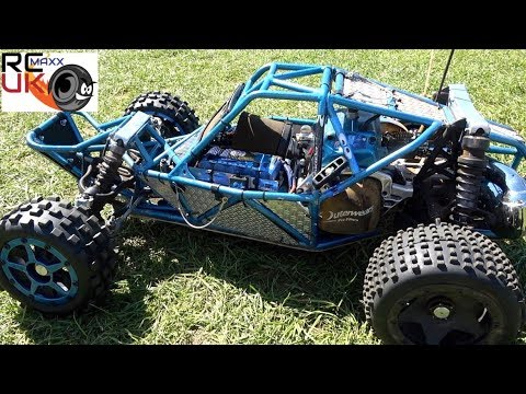 Repeat Evans ALX 71cc Baja BLOWS his BRP tyre!! by RC Maxx UK