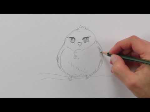 Manga Tiere zeichnen lernen #4: Vögel / Comic Tiere (inkl. Manga-Ente) / Manga Zeichenkurs
