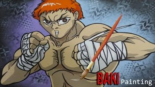 Baki The Grappler Painting (by Baki.r.)
