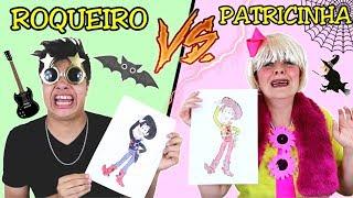 DESAFIO COLORINDO COM 3 CORES na Escola (3MARKER CHALLENG)  ROQUEIRO VS PATRICINHA CHORONA