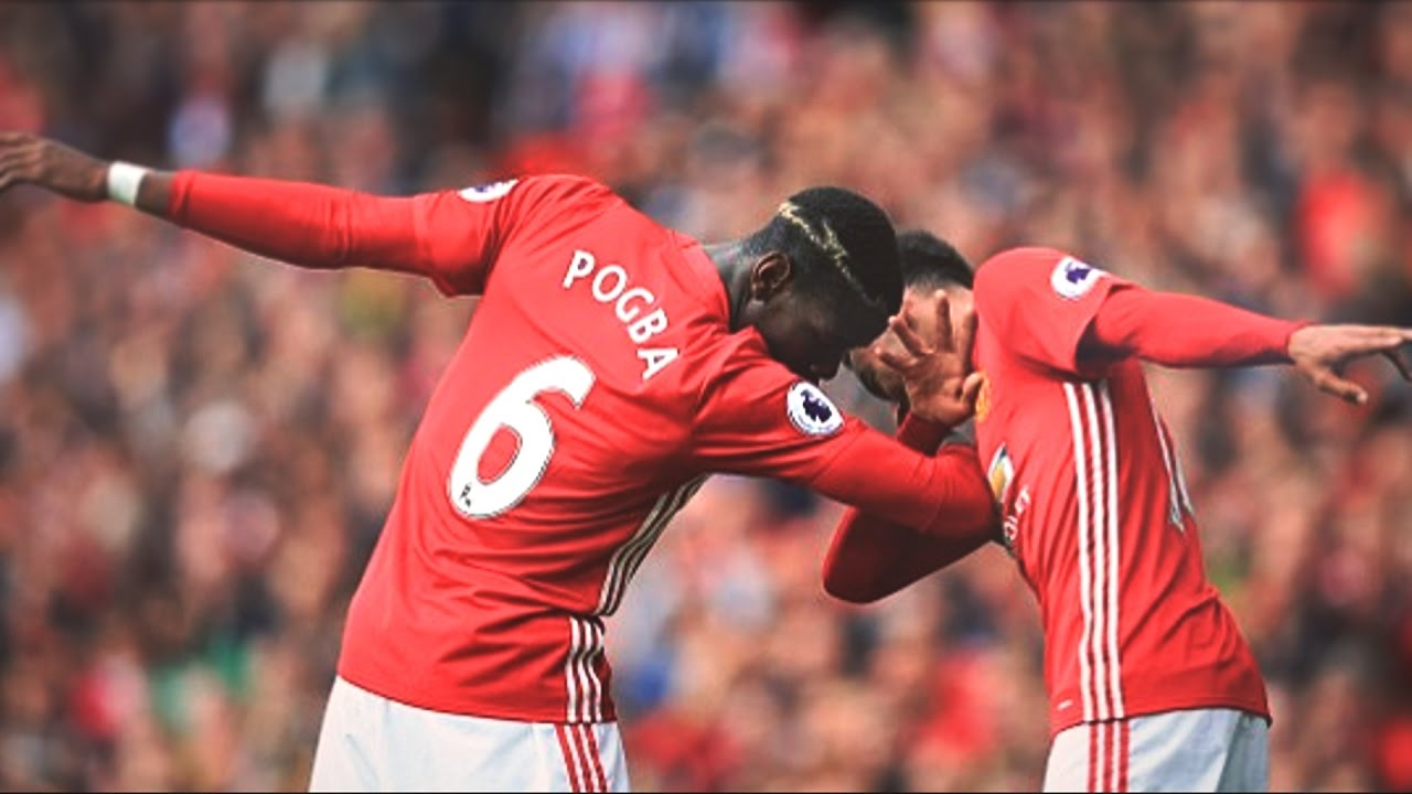 paul pogba all manchester united dabs 2016 17 youtube. Black Bedroom Furniture Sets. Home Design Ideas
