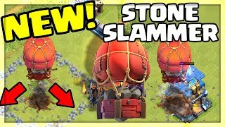 NEW SIEGE MACHINE - Stone Slammer! Clash of Clans Update Sneak Peek #3!