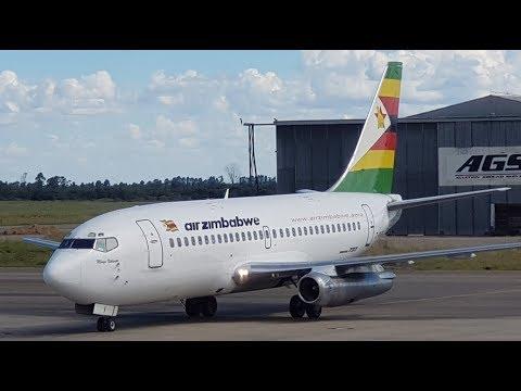 Air Zimbabwe B737-200 Takeoff From Harare