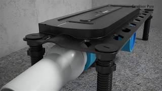 Dallmer CeraFloor Pure douchegoot installatie met DallFlex afvoersysteem