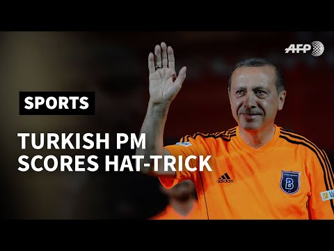 Turkish PM 'scores hat-trick' in football match