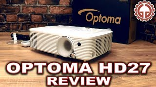 optoma hd27 unbox demo full hd dlp home theater projector