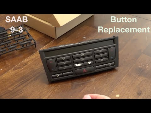 SAAB 9-3 Climate Control Button Replacement 2003-2006