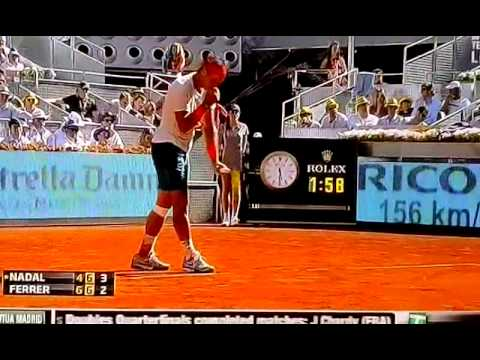 rafael nadal vs david ferrer  at the Mutua Madrid Open 2013