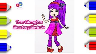 How to draw Cherry Jam from Strawberry Shortcake coloring page | An Pi TV Coloring