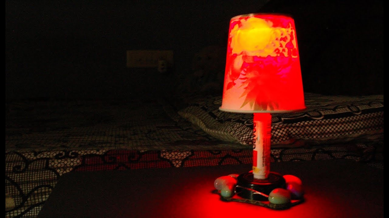 Diy how to make a mini bed lamp simple youtube diy how to make a mini bed lamp simple geotapseo Images