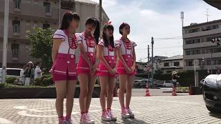おはガール石井さな、兼次桜菜、原菜乃華、渡辺優奈4名による交通安全パ...