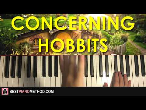 Lord Of The Rings - Concerning Hobbits (Piano Tutorial Lesson)