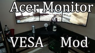Acer Monitor Vesa Mount Mod Tutorial