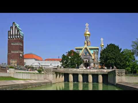 Cities of Germany, Darmstadt, buildings, park ,leisure, tourism, history, women