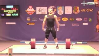 European Youth Weightlifting Championships 2014 Simon Martirosyan 182Kg Snatch