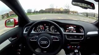 2014 Audi S4 Quattro Manual - Мини обзор и тестдрайв с видом из