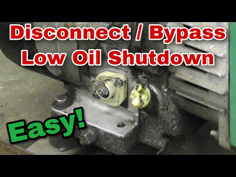 How To Disable/Disconnect/Bypass a Low Oil Shutdown Switch or Sensor - with Taryl
