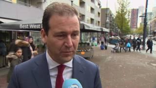 Vice-premier Asscher bezoekt West-Kruiskade Rotterdam