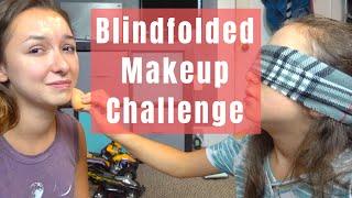 i let my 9 year old sister do my makeup... blindfolded! | vlog 37