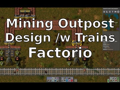 Mining Outpost Design /w Trains Factorio
