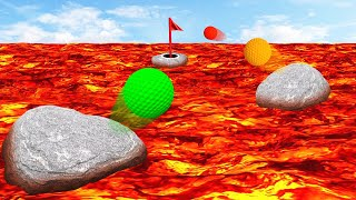DANGEROUS GOLF BOUNCE CHALLENGE! (Golf It)