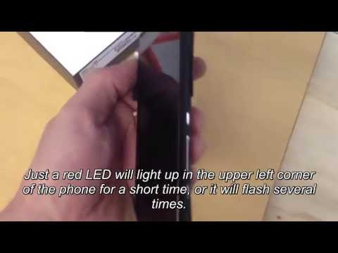 Sony Xperia T mini pro Z S X10 Fix red blinking light tutorial (German audio / english sub)