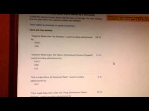 YouTube continues flagging bumper music on Alex Jones show Oct.7th 2013
