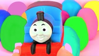 Thomas Opens Many Play Doh Surprise Eggs Peppa Pig Shopkins MLP Thomas & Friends Cars Inside Out