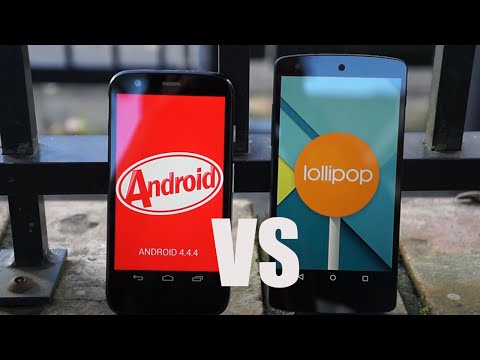 Android 5.0 Lollipop vs 4.4 KitKat - Features Comparison!