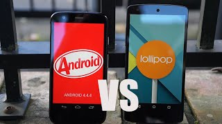 Repeat youtube video Android 5.0 Lollipop vs 4.4 KitKat - Features Comparison!