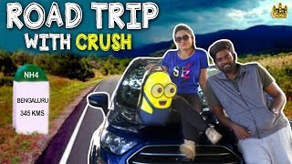 Road Trip With Crush ft. Zoomcar | Girl Friend Vs Boy Friend | Long Drive | Chennai Memes