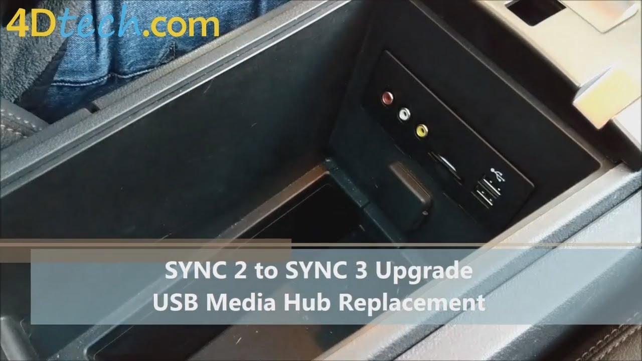 SYNC 2 to SYNC 3 USB Media Hub Replacement