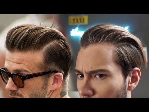 David Beckham Inspired Hairstyle | Men's Slicked Back | Ruben Ramos